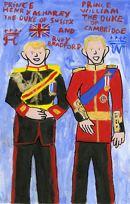 """Prince William and Harry"" by Ruby Bradford"