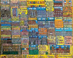 """European Landmarks"" by Adam Hines"