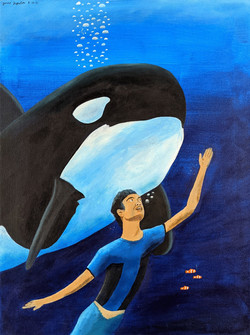 """""""Swimming with Orca"""" by Janno Juguilon"""