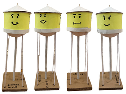 """""""Emoticon Water Tower"""" by Ricky Willis"""
