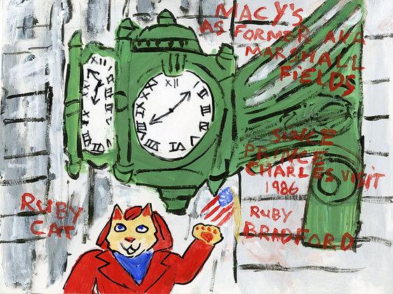 """Ruby Cat Visits Macy's"" by Ruby Bradford"