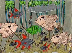 """Pond Fish"" by Blake Lenoir"