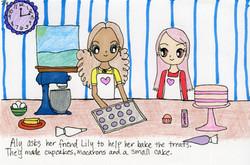 """""""Ally and Lily Make Treats"""" by Dana Baker"""
