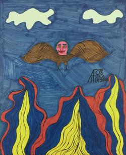 """Owl Person in Flight"" by Allen McNair"