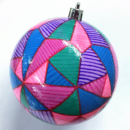 """Geo Striped Ornament"" by John Behnke"