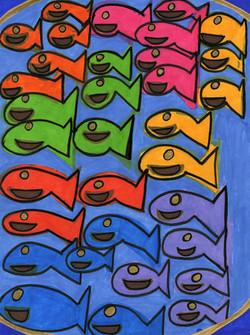 """Colorful Guppies"" by Safiya Hameed"