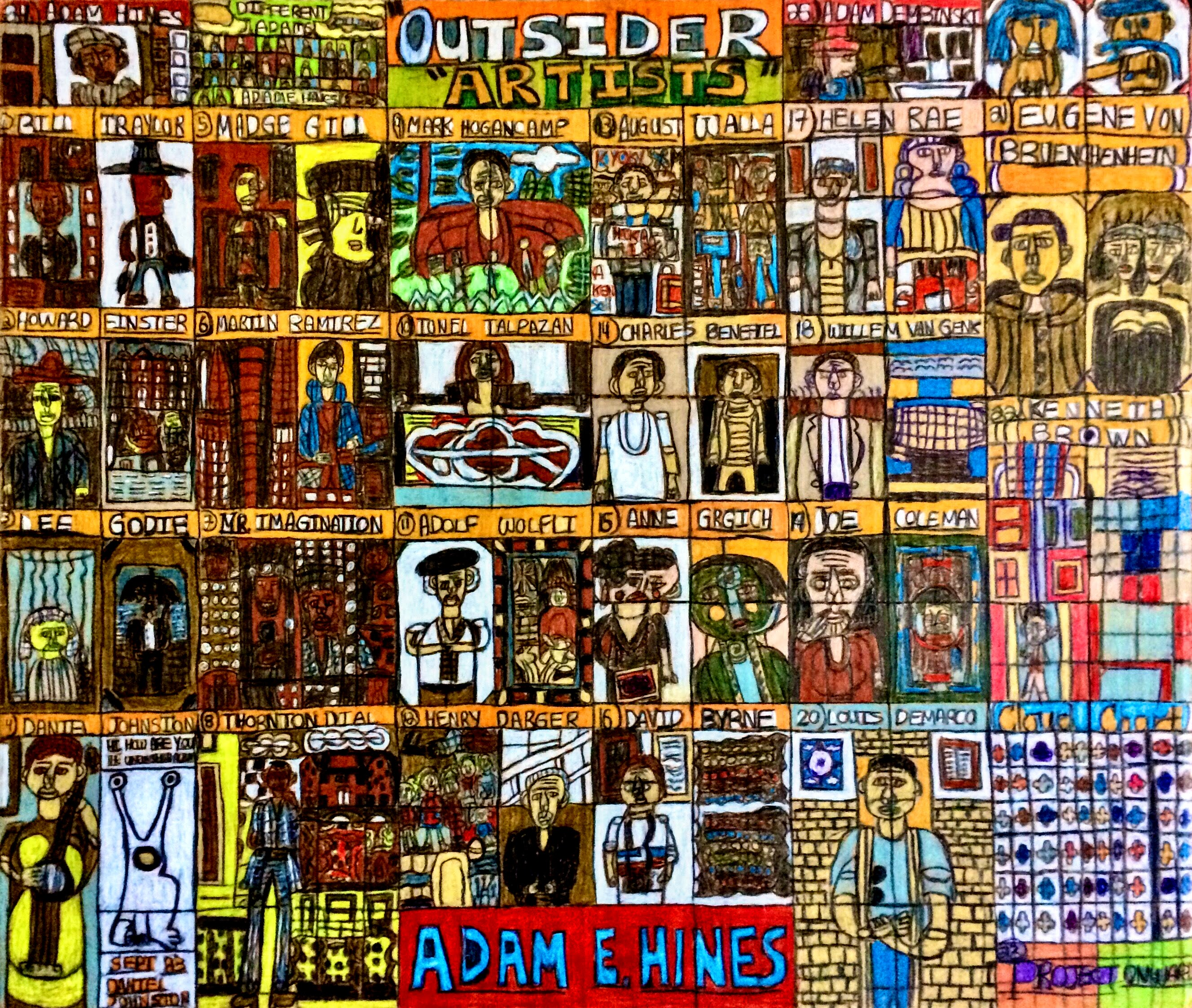 """Outsider Artists"" by Adam Hines"