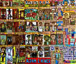 """Original artwork called """"Outsider Artists"""" by Project Onward artist Adam Hines"""