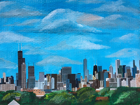 """Chicago Skyline"" by Janno Juguilon"