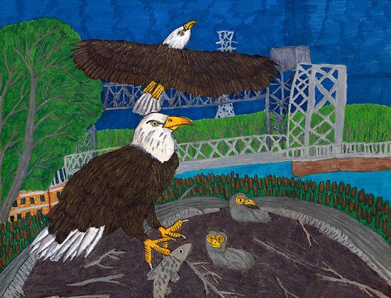 """""""Eagle Family"""" by Blake Lenoir"""