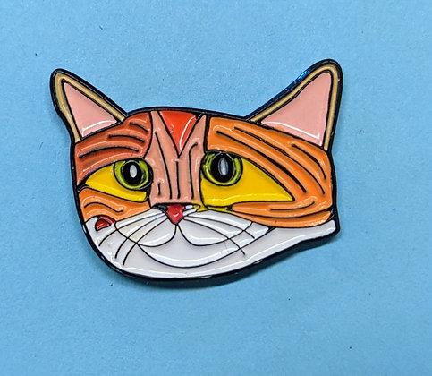Windy City Kitty Enamel Pin