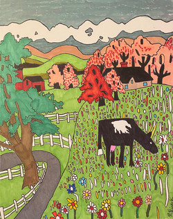 """""""A Dairy Cow Named Christine"""" by Matthew Bianchi"""