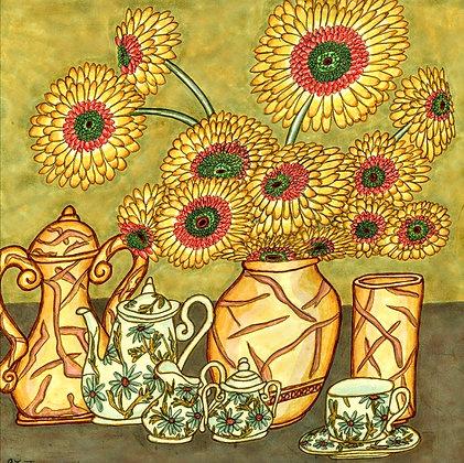 """Sunflower Still Life"" by James hall"
