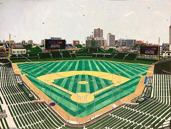 """""""Wrigley Field"""" by R.J. Juguilon"""