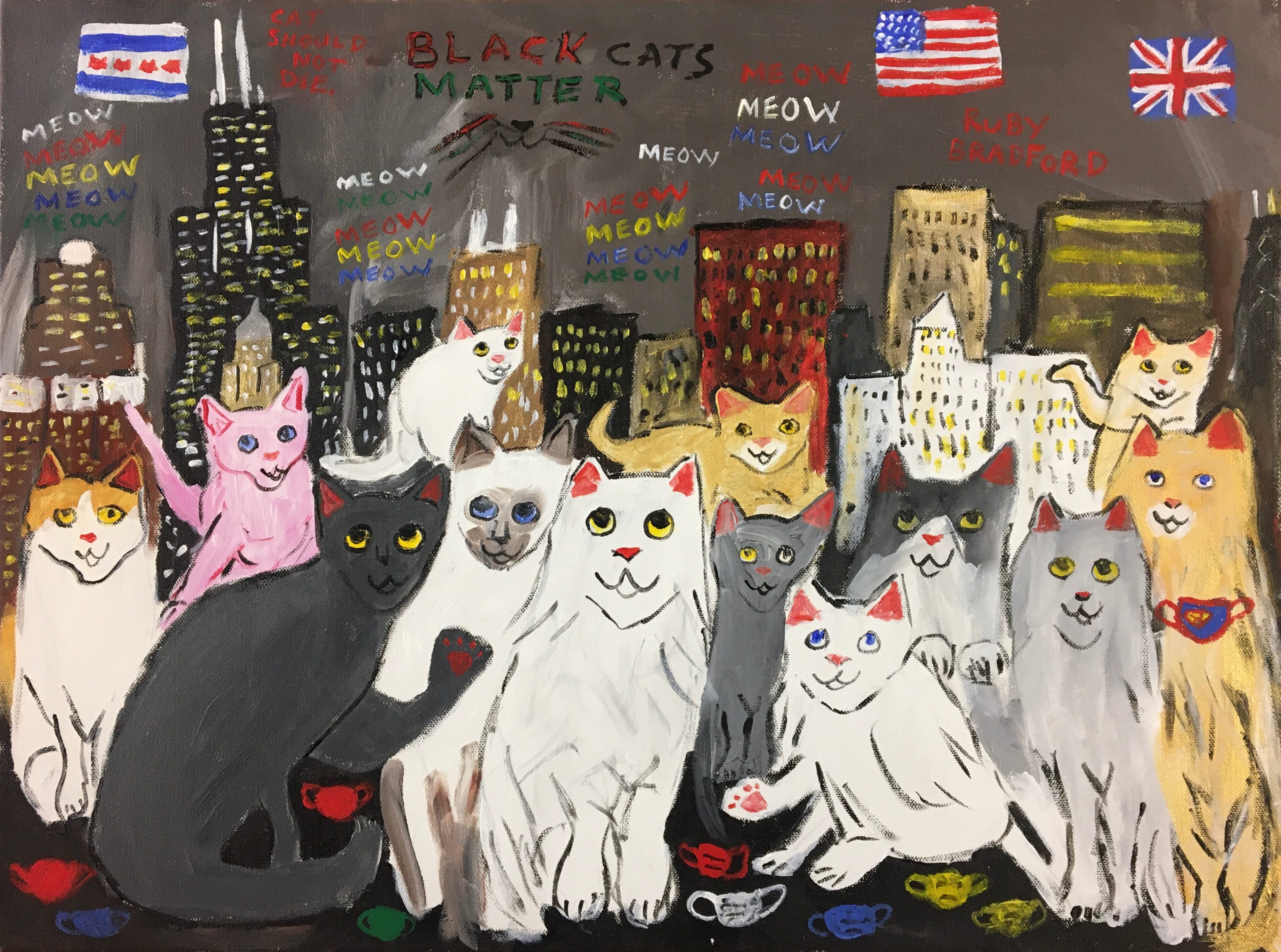 """Black Cats Matter"" by Ruby Bradford"