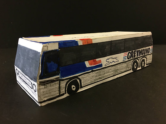 """""""Small Greyhound Bus"""" by Ricky Willis"""