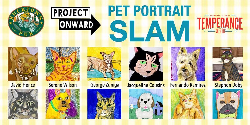 Pet Portrait Slam at Bucktown Pub
