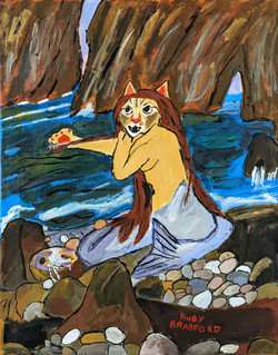 """Mermaid Cat"" by Ruby Bradford"
