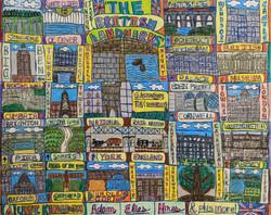 """""""The British Landmarks"""" by Adam Hines"""