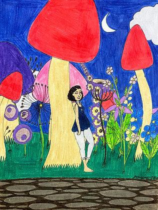 """""""Wildflower Garden Fantasy"""" by Jacqueline Cousins Oliva"""