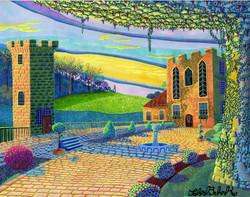 """""""Castle Courtyard"""" by John Behnke"""