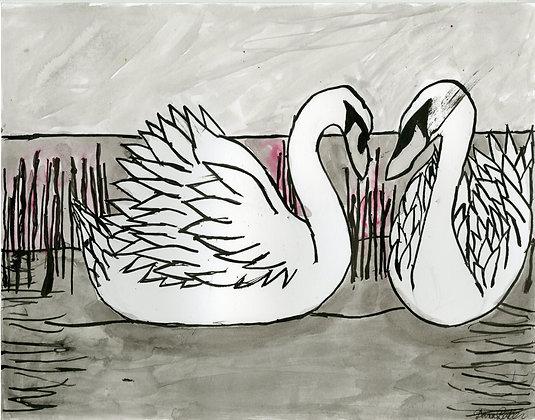 """""""Swans"""" by Dana Baker."""