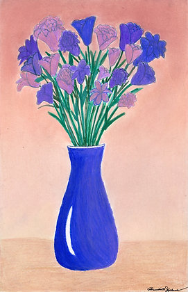 """Purple flowers in a Vase"" by Brandon Jackson"