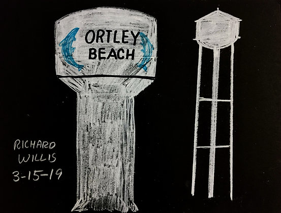 """""""Ortley Beach Water Tower"""" by Ricky Willis"""