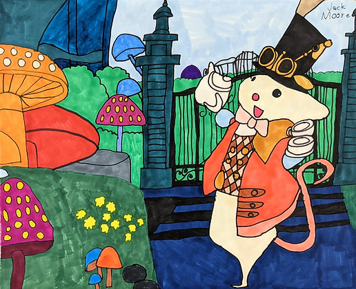 """""""Mad Hatter Mouse"""" by Jack Moore"""