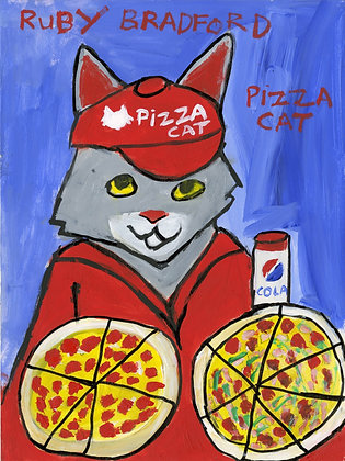 """Pizza Cat"" by Ruby Bradford"
