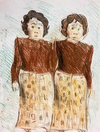 """Twins in Brown"" by Michael Smith"