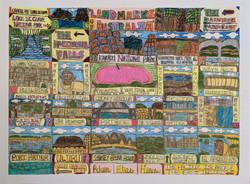 """Landmarks of Australia"" by Adam Hines"