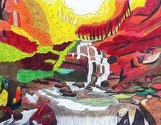 """Waterfall"" by Jason Harris"