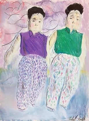 """Print Pants Twins"" by Michael Smith"