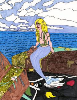 """""""Mermaid and Her Treasure"""" by Matthew Bianchi"""