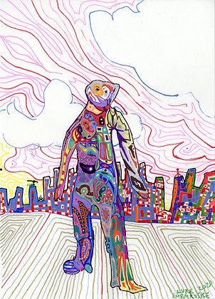 """""""City Sidewalk"""" by Luke Shemroske"""