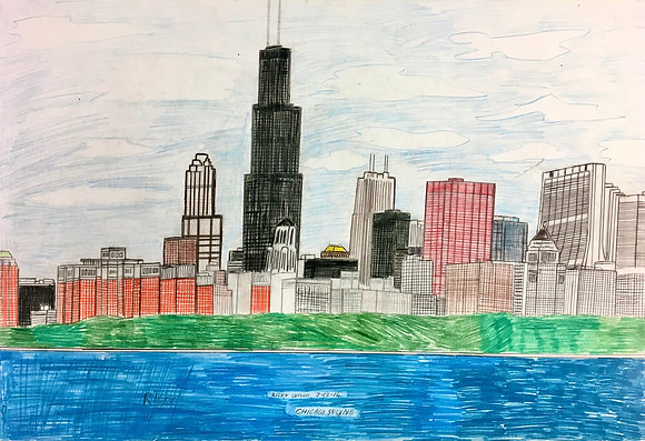 """Chicago Skyline"" by Ricky Willis"