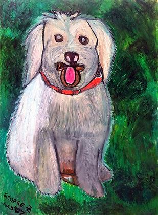 """""""Fluffy Dog"""" by George Zuniga"""