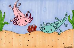 """""""Axolotls"""" by Dana Baker"""