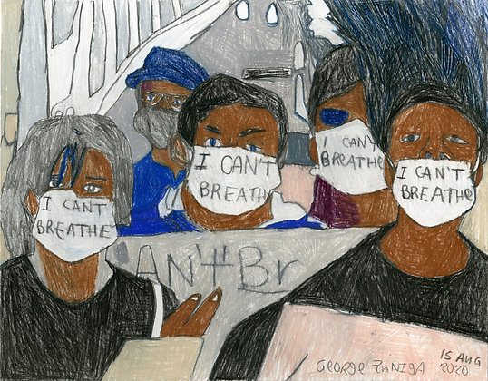 """I Can't Breathe"" by George Zuniga"