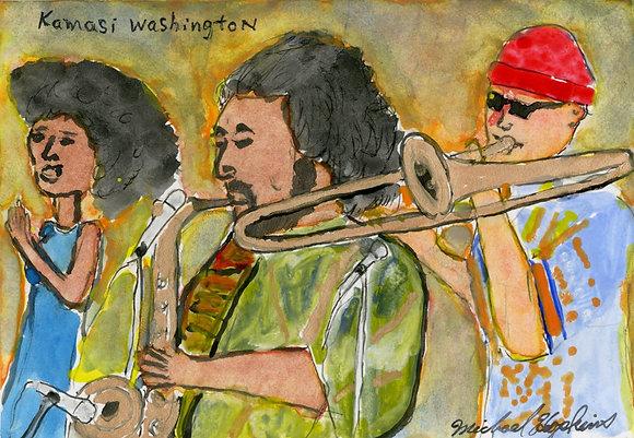 """Kamasi Washington"" by Michael Hopkins"