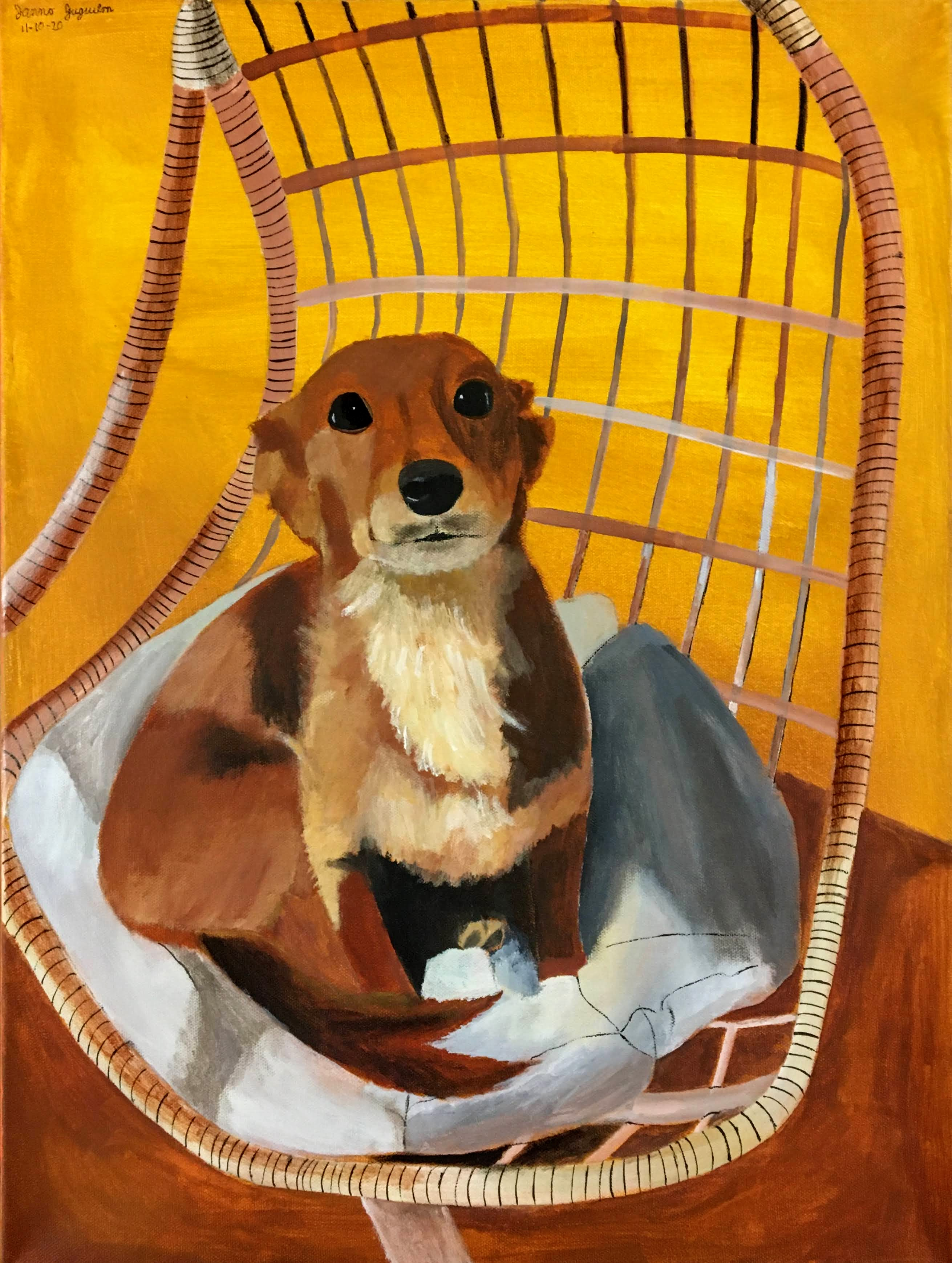 """""""Dog in Wicker Chair"""" by Janno Juguilon"""