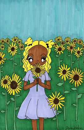 """""""Sunflower Field"""" by Dana Baker"""