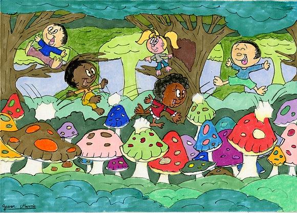 """""""Mushroom Hopping"""" by Jason Harris"""