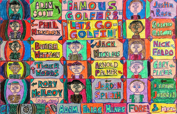 """""""Famous Golfers"""" by Adam Hines"""