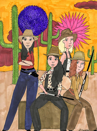 """""""Cowgirls"""" by Jacqueline Cousins Oliva"""