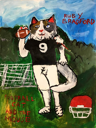 """Football Cat and Mouse"" by Ruby Bradford"