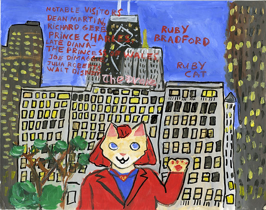 """Ruby Cat Visits the Drake Hotel"" by Ruby Bradford"