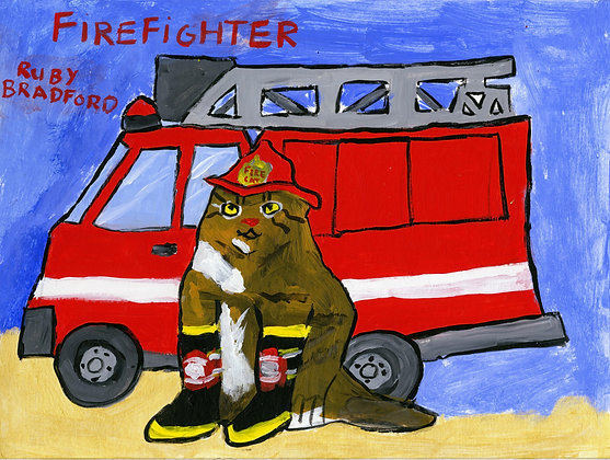 """Firefighter"" by Ruby Bradford"