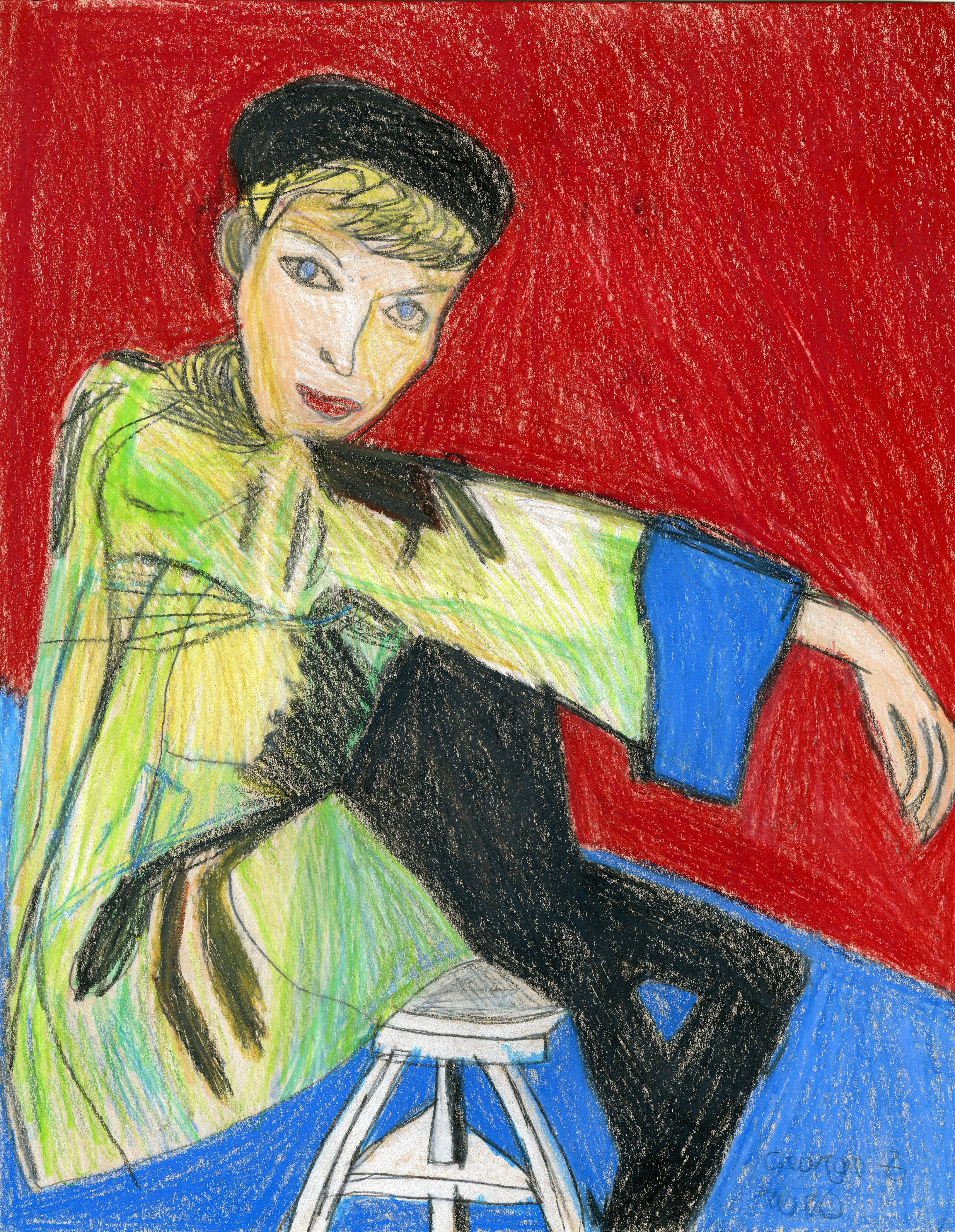 """Woman on Stool"" by George Zuniga"